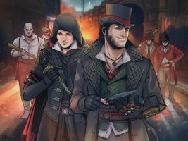 Evie and Jacob Frye by METSUSAN