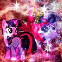 Twilight Sparkle Cosmic Wallpaper by Sueroski