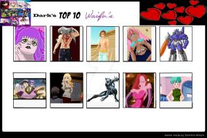 Dark's Top 10 Waifus by Oracledk