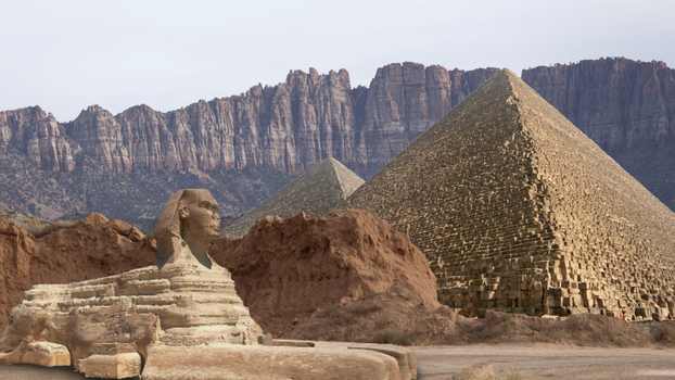 Pyramids in the Mountains by Lucoshi10