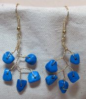 Turquoise Vine Drop Earrings by the-twisted-vine