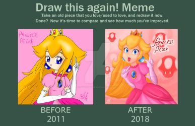 Draw this again! Princess Peach by SailorBomber