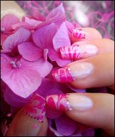 marbled french manicure 2 by Tartofraises