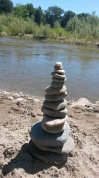 angled stacked rocks by Tallon-1