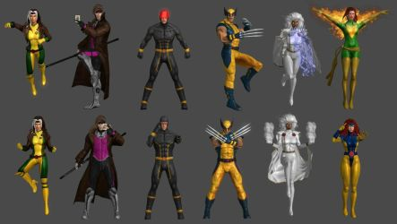 X-Men Pose Pack by WildGold
