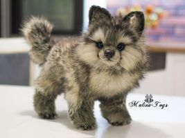 Poseable toy Commission wolf puppy by MalinaToys