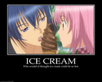 ikuto+and ice cream- hot by MokaAkashiya