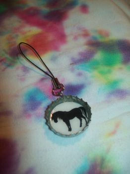 Horse Sillouette Bottlecap Key by CheriesBowsNThings