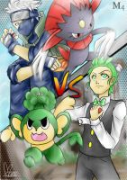 Pokemon Battle: Cilan VS Kakashi