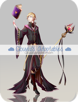 [CLOSED] Auction Adoptable - Black Mage by Clouvia