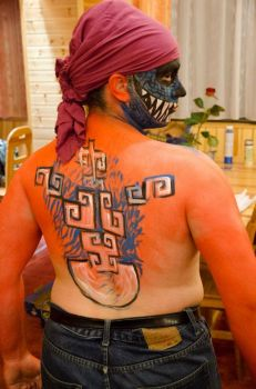 Aztec body-painting 2 by Rael-the-one