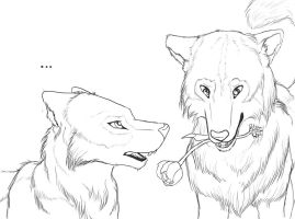 Anyra and Fael - Sketch by KajatheDog