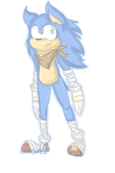 i haven't drawn sonic in 3 years by scenikeight