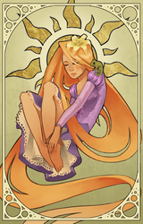 art nouveau Tangled by Detkef