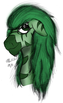 OC Sketch Colored - Amber Light by AncientOwl