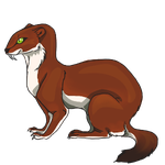 Natural Saber Weasel by ReapersMenagerie