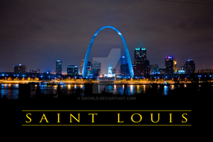 St. Louis Skyline at Night by dworld