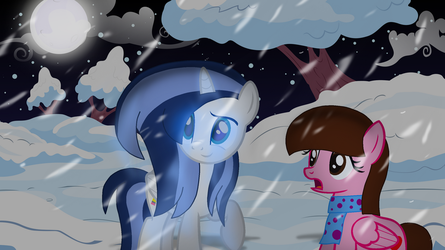 A Snowy Night with a Frostbite Pony by Thunder-Artist