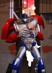 Commission : Optimus with the lil Ellen by papillonstudio