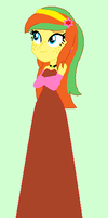 EQG Apple Honey's Prom Dress by unicornsmile
