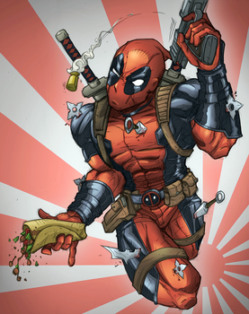 Deadpool color sketch by muglo