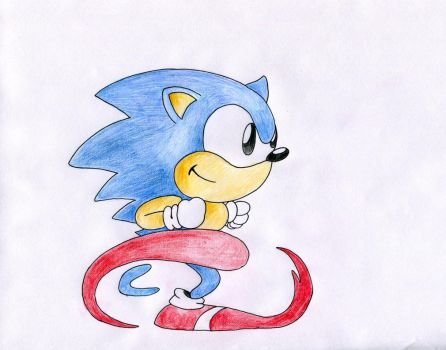 Classic Sonic by MicahBuzan
