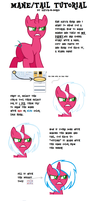 mane and tail tutorial for beginners! by skele-sans