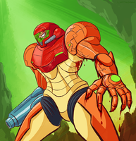 samus keeps fighting by cannibal-sarracenian