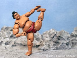 3D printed Sumo action figure pose I by hauke3000