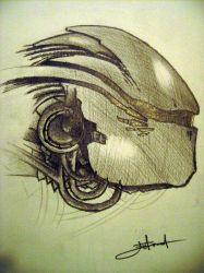 robot face by Onlyartist
