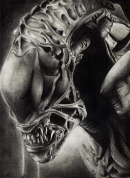 Alien with pencil by KainOc