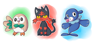 Alola Starters by Quarbie