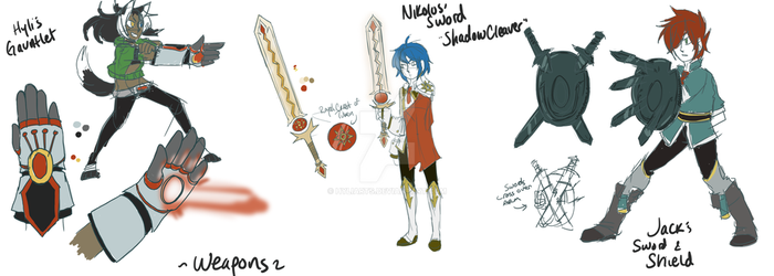 Weapon Concepts by HyliArts