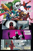 deadpool friends by rosewitchcat