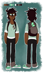 Riley (Outfit) Model Sheet - Chapter 2 by TawnySoup