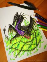 The Thorn Queen: Maleficent by Dae-Thalin