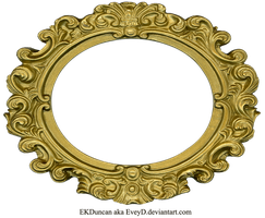 Ornate Gold Frame - Oval 2 by EveyD