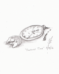 Sketchavember 11/10/16 - Fractured Time by Ginkage