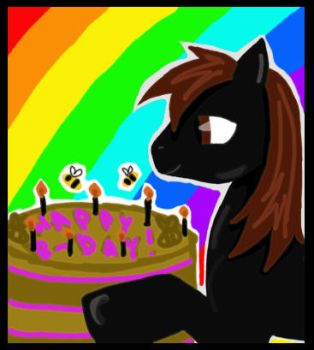 Smerg, cake and bees by Cronlisk