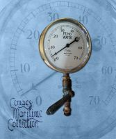 Vintage brass steam gauge by CemaesMaritime