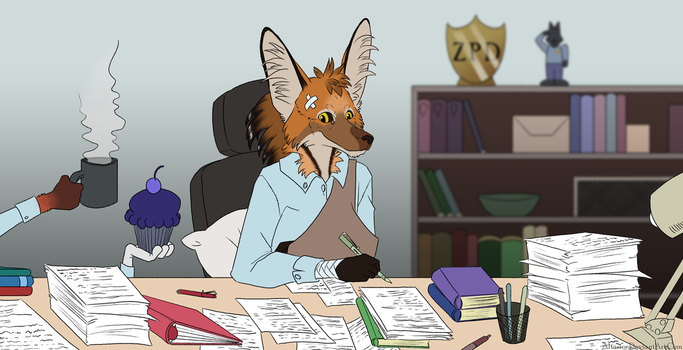 Desk Duty by Altarior