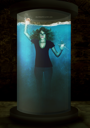 Divergent: Tris Fear - Drowning in a tank of water by lisalovesarts