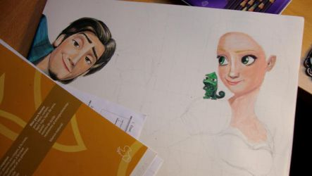 Tangled WIP 3 by theresebees