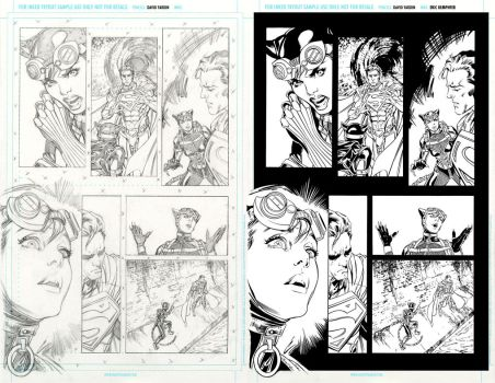 injustice 17 page 7 ink practice SideBySide by EricKemphfer