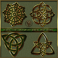 Celtic Knot Brushes for Photoshop by Spiral-0ut