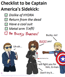 Bucky found out about Coulson's Sidekick List by ShiningamiMaxwell