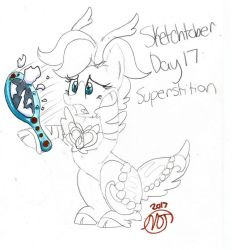 Sketchtober #17: Superstition by CrystalizedFlames