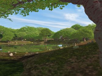 Isolated Pond - High Res by wiyaneth