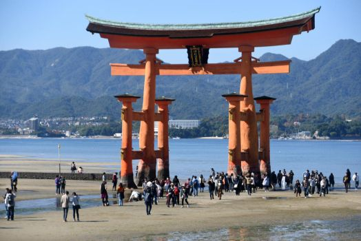 Itsukushima Shrine, Japan - low tide by wildplaces