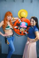 Nami, Robin, Chopper-One Piece New World Cosplay by firecloak